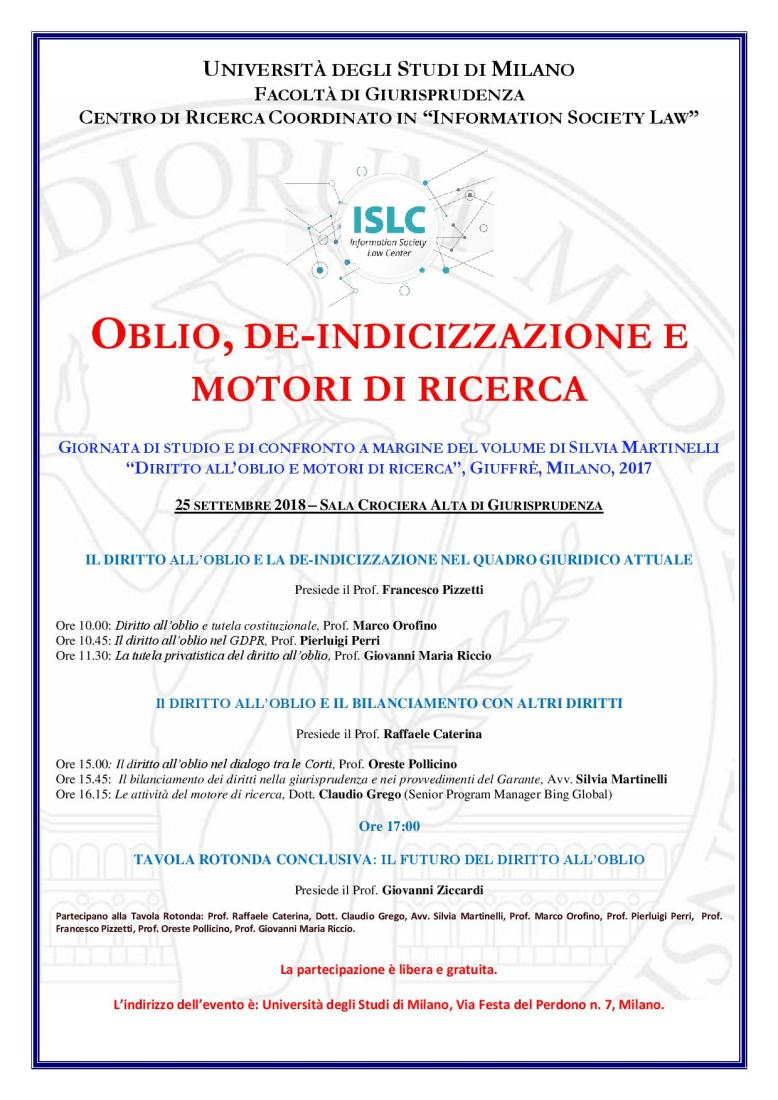 Locandina Silvia Oblio e motori di ricerca 25 settembre.jpg
