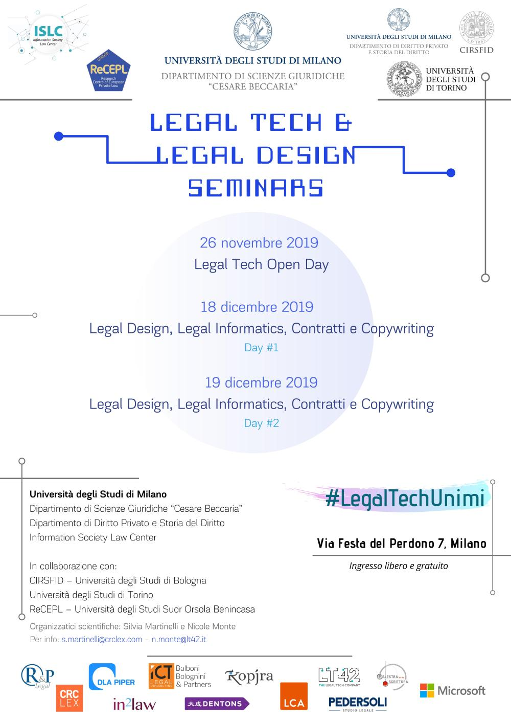 1. Legal Tech & Legal Design Seminars