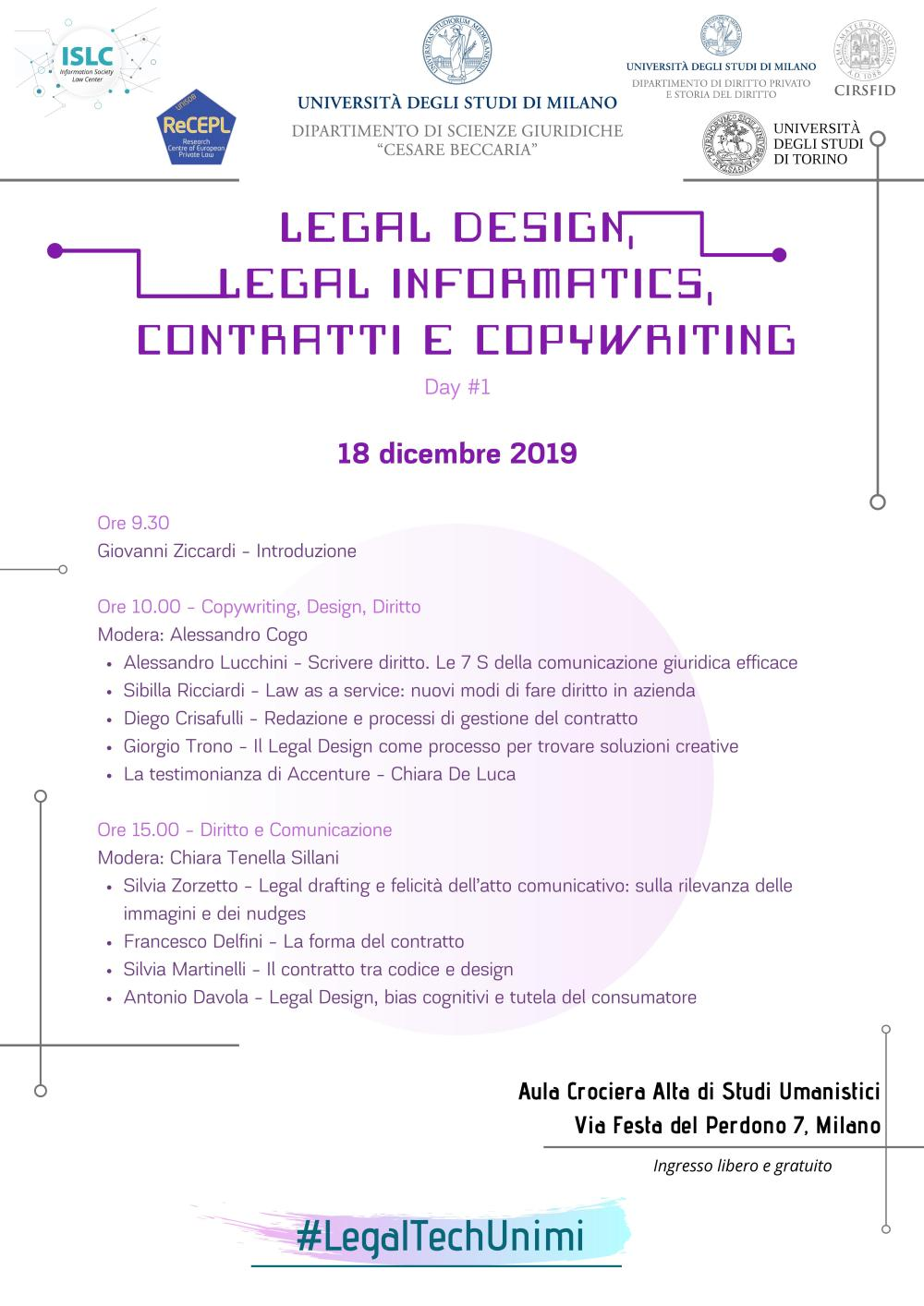 3. Legal Design, Legal Informatics Day 1
