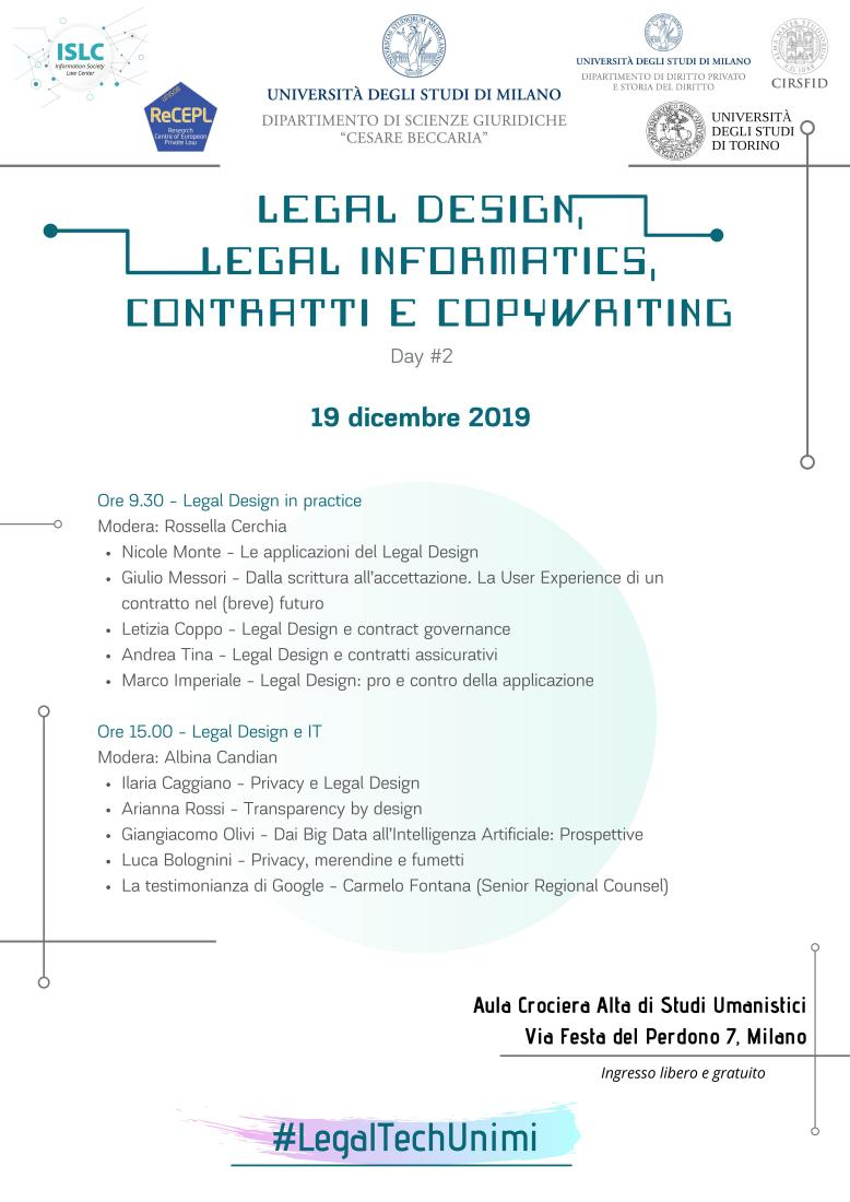 4. Legal Design, Legal Informatics Day 2