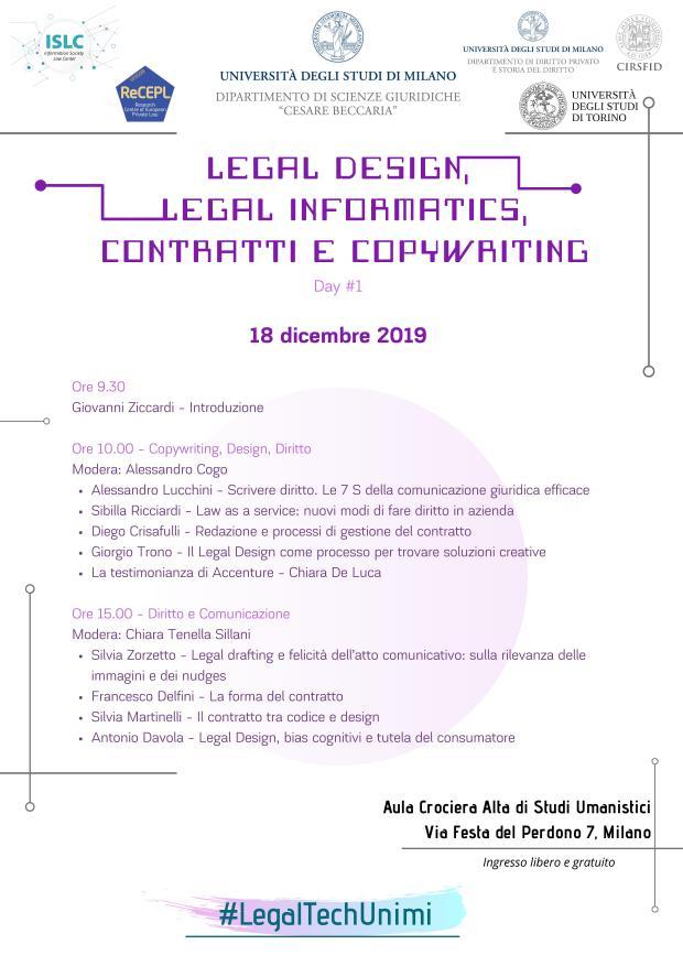 3. Legal Design, Legal Informatics Day 1
